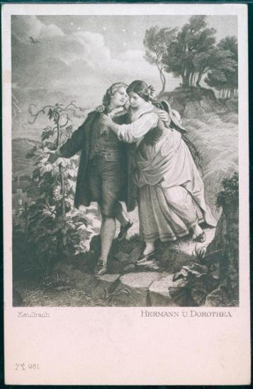 25A225 Žánrová polednice - Museum Munchen,- Hermann und Dorothea