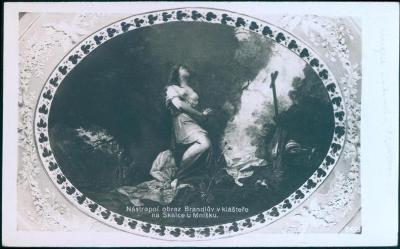25A227 Žánrová polednice - Klášter Na Skalce/ BRANDL- nástropní obraz