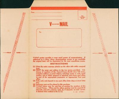 11B511  Neprošlý V - mail ( VICTORY MAIL) mimořádné