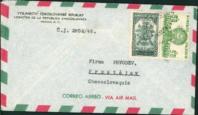 21B205 Velvyslanectví ČSSR Mexico / firma PRVODĚV PROSTĚJOV- RR!!