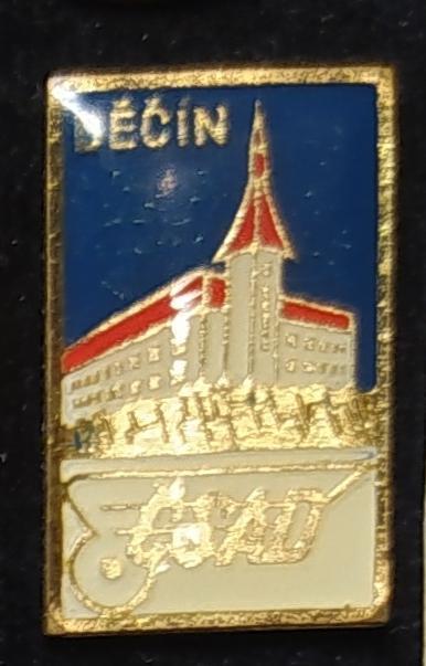 P98 Odznak ČSAD Děčín 22x15mm  1ks