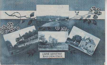 Lázně Libnič, celkový pohled na město, vily, více