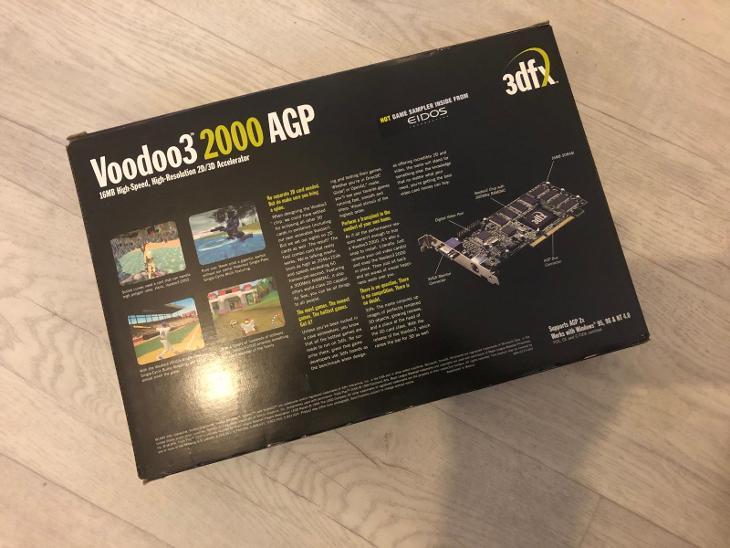Voodoo 3 3dfx originál krabice  - Historické počítače