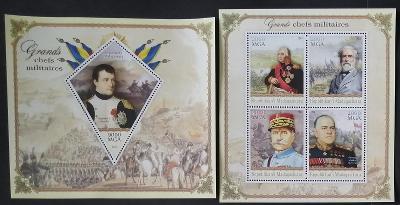 Madagaskar 2014 Slavní vojevůdci, Napoleon Bonaparte, Kotuzov, Žukov