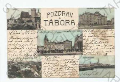 Tábor  koláž více záběrů Kotnov náměstí akademie