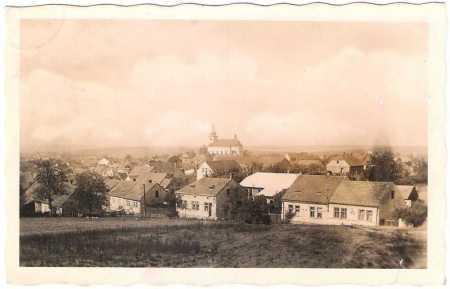 Podbořany - pohled na město, kostel