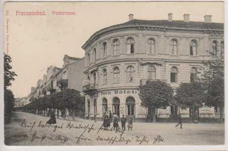 Františkovy Lázně (Franzensbad, Parkstrasse)
