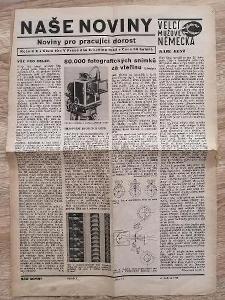 NOVINY - NAŠE NOVINY - Ročník 10 Číslo 10 Rok 1943