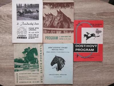 konvolut - 5x DOSTIHOVÝ PROGRAM rok 1969-1982