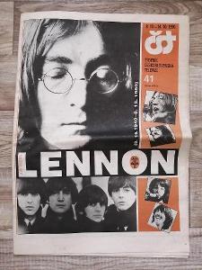 noviny - ČST - rok 1990 číslo 41 - LENNON - 10. let od úmrtí Lennona