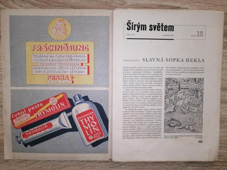 ŠIRÝM SVĚTEM - ZEMĚPISNÝ 14/d S. Nikolau - ročník 21 rok 1944 číslo 12 - Antikvariát