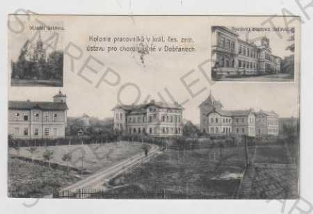 Plzeň - Jih, Dobřany, Ústav, Více pohledů, Kostel - Pohlednice