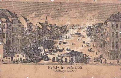 PRAHA - KOŇSKÝ TRH 1720 - ZVLÁŠTNÍ TECH. - 27-NY31