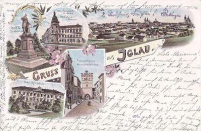 JIHLAVA - GRUSS AUS - LITHOGRAFIE -12-OY28