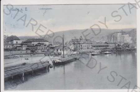 Ústí nad Labem (Aussig) - přístav, loď