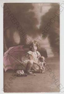 Děti - foto, Dítě, Hračka, Panenka, Deštník, Květi