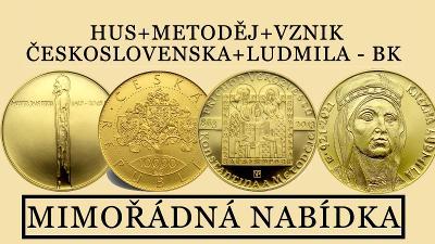 JAN HUS + KONSTANTIN A METODĚJ+VZNIK ČESKOSLOVESKA+LUDMILA++++ BK !!!!