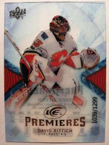 ICE PREMIERES David Rittich - Calgary Flames /1299