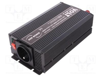Volt SINUS600 měnič, střídač 24V-230V 300W