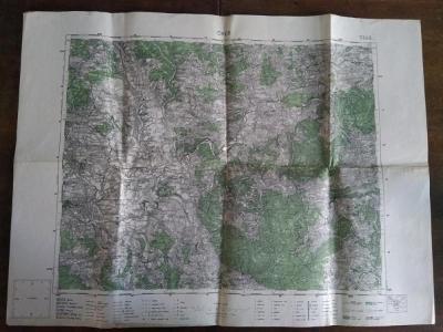 Vojenská mapa Chebu 1936