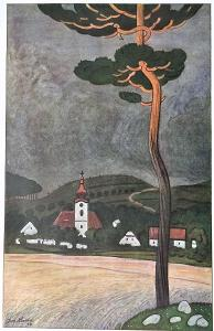 Když na Uršulu vítr duje.. - Josef Lada 1945, dob.víceb. ofset 20x14cm