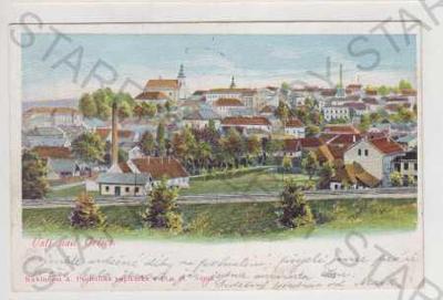 Ústí nad Orlicí, pohled na město, kolorovaná, DA