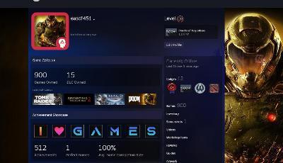 Steam účet 900 her