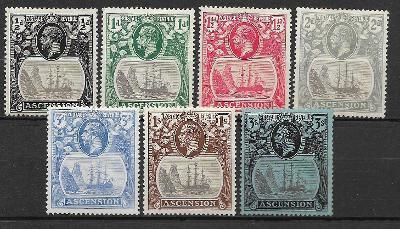 Britská kolonie  Ascension 1924 MH *