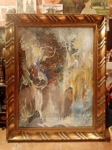 Originál malba v rámu