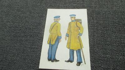 H2. Pohlednice - Pošťák poštovní panáček