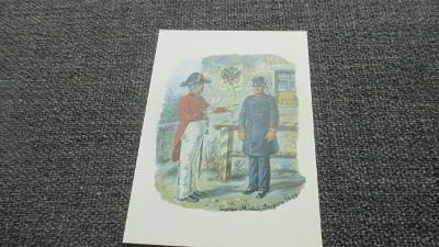H2. Pohlednice Postkarte - Pošťák poštovní panáček