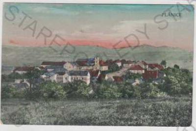 Plánice, Klatovy, Šumava, pohled na město, kolorov