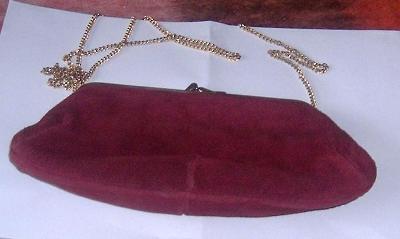 Semišová dámská kabelka, vel. 22 x 12cm