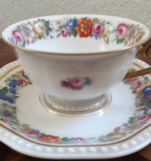 Nádherný Rosenthal -  Německo - šálek s podšálkem - kol. r. 1930 - Porcelán