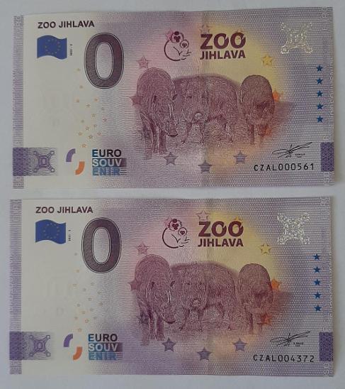 0 Euro Souvenir - ZOO JIHLAVA 2021 - nízké číslo a ANNIVERSARY - Bankovky