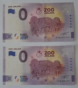 0 Euro Souvenir - ZOO JIHLAVA 2021 - nízké číslo a ANNIVERSARY