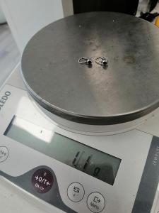 Dětské náušnice z bílého 14 K zlata - 1,1 gramu