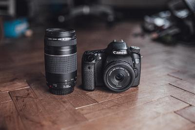 Canon 70D + objektiv 75-300mm + objektiv 24 mm