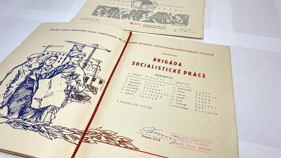 Brigáda socialistické práce z roku 1962 + Pochvalné uznání ROH pionýr