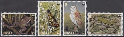 Jersey ** Mi.480-483 WWF fauna