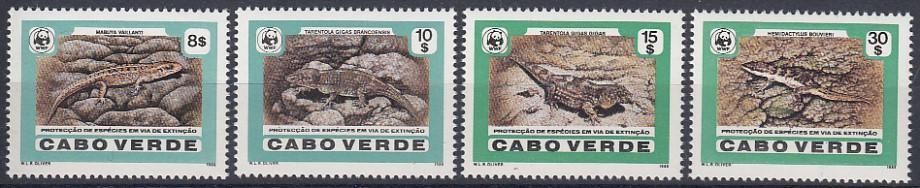 Kapverdy **  Mi.500-503 Plazi WWF (komplet, katalog 42,- Mi€ !!!)