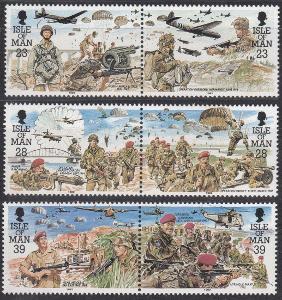 Man ** Mi.497-502 Vojáci, 2.světová válka, parašutisti