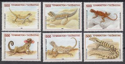 Tádžikistán ** Mi.62-67 Ještěrky