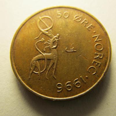 Norsko - 50 Ore z roku  1996