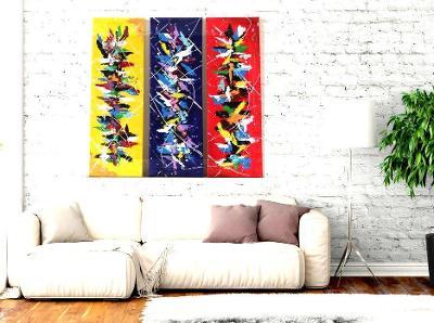 Abstraktní obraz - triptych