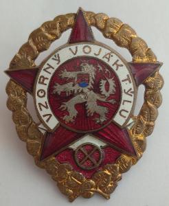 Vojenský odznak ČSR z 50. let - Vzorný voják týlu