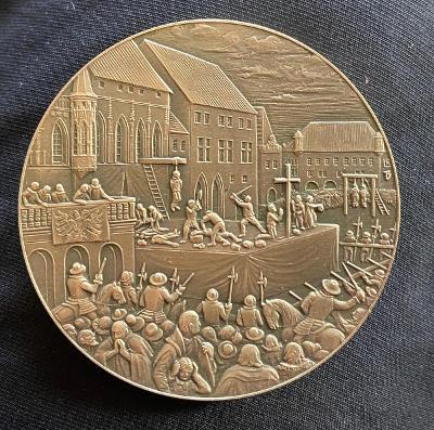 Exclusive! Stříbrná a mosazna medaile poprava 27 českých panu