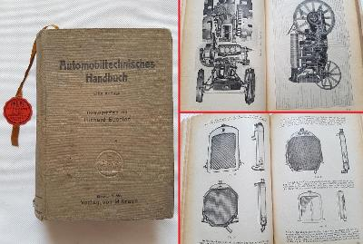 Příručka auto moto veterán traktor 1925 Bosch karburátor 1000+ stran