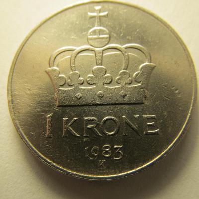 Norsko - 1 Krone z roku 1983