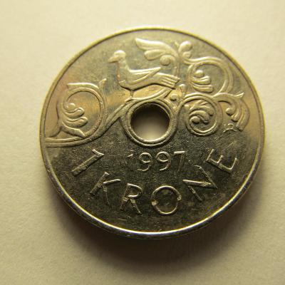 Norsko - 1 Krone z roku 1997